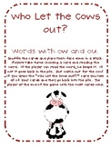 Who Let the Cows Out?! Sight Word Card Game (Words with ou