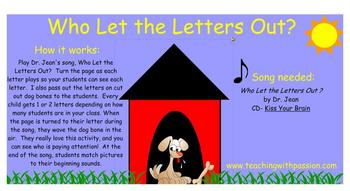 Who Let the Letters Out? SMART Notebook Activity