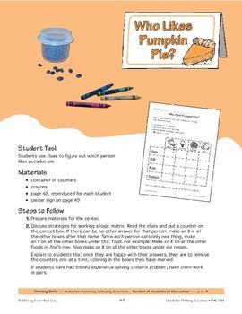 Who Likes Pumpkin Pie?