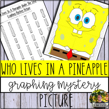 Who Lives In A Pineapple Under The Sea? Graphing Mystery Picture