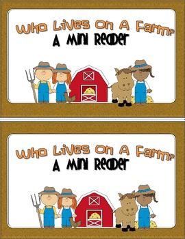 Mini Reader FREE - Who Lives On a Farm?