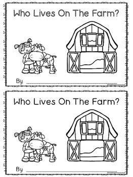 Who Lives On The Farm - Emergent Reader