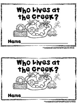 Who Lives at the Creek?  (A Sight Word Emergent Reader and Teacher Lap Book)