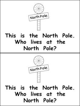 Who Lives at the North Pole Christmas Kindergarten Emergent Reader book