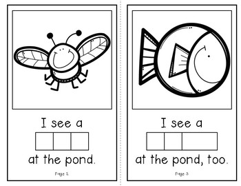 Who Lives at the Pond?  (An Interactive Build-A-Word Book for K-1)