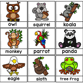 Who Lives in Trees? A Creative Curriculum Sorting Activity