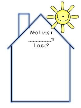 Who Lives In Our House Class Book For K 2 By Janice Mitchell Tpt