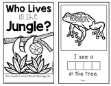Who Lives in the Jungle?  (An Interactive Build-A-Word Book for K-1)