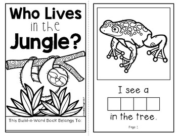 who lives in the jungle an interactive build a word book for k 1. Black Bedroom Furniture Sets. Home Design Ideas