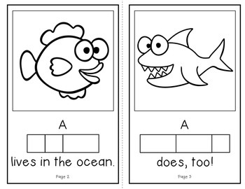 Who Lives in the Ocean?  (An Interactive Build-A-Word Book for K-1)
