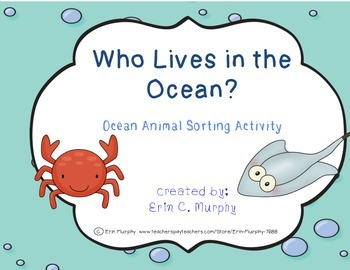 Who Lives in the Ocean? Ocean Animal Sorting Activity