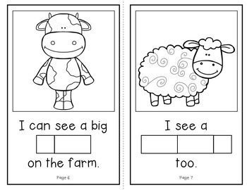 Who Lives on a Farm?  (An Interactive Build-A-Word Book for K-1)