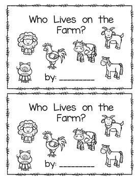 Who Lives on the Farm?  emergent reader