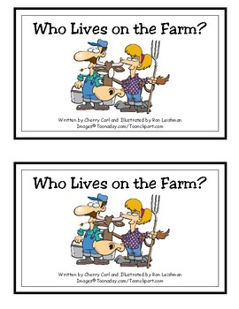 Who Lives on the Farm? Reproducible Guided Reader