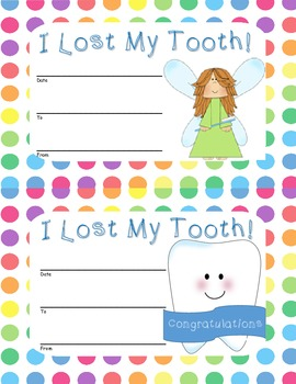 Who Lost a Tooth Classroom Display Set ~ Dots Theme