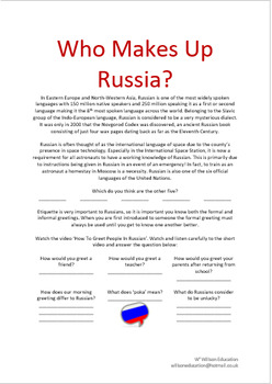Who Makes Up Russia?