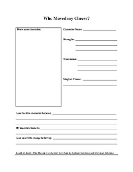 Who Moved My Cheese For Kids Activity Worksheet By Learning For Success