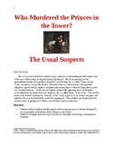 Who Murdered the Princes In the Tower? The Usual Suspects