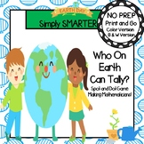 NO PREP Earth Day Themed Spot and Dot Tally Marks Game