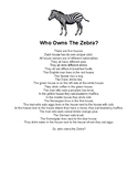 Who Owns The Zebra?
