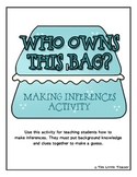 Who Owns This Bag Inference Activity for Grades 2, 3, 4 {L