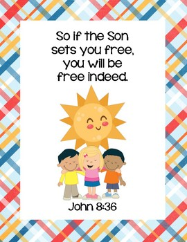 Who Owns the Sun? Bible Verse Printable (John 8.36)
