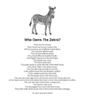Who Owns the Zebra? (with manipulatives page)