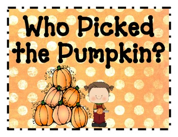 Who Picked the Pumpkin? Poem