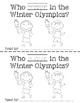 Who Plays in the Winter Olympics? Emergent Reader