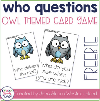 Who Question Cards