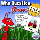 Who Question Game FREEBIE