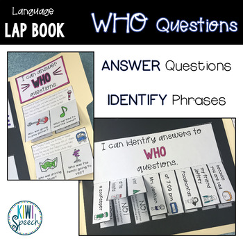 Who Questions Lap Book - A Language Lap Book for WH Questions