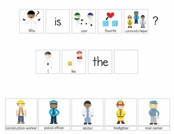Community Helpers Interactive Book Unit - Who Questions for Preschool and Autism