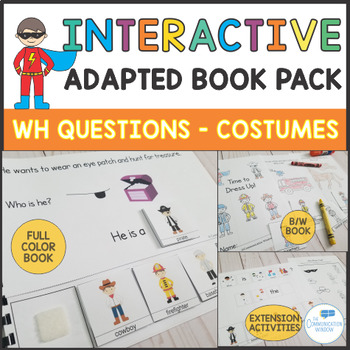 Interactive Adapted Book - Halloween and Costumes Who Questions