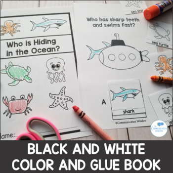 Who Questions - Preschool and Autism Adapted Book and Activities - Ocean Animals