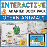 #spedprepsummer2 Ocean Animals Interactive Book and Activities - Who Questions