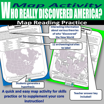 Who Really Discovered America? Map Labeling Activity