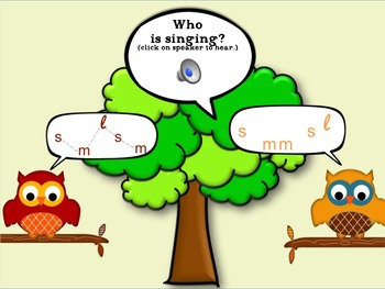 Who Sang It? mi sol la Interactive Melody ID Game