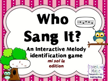 Who Sang It? mi sol la Interactive Melody ID Game