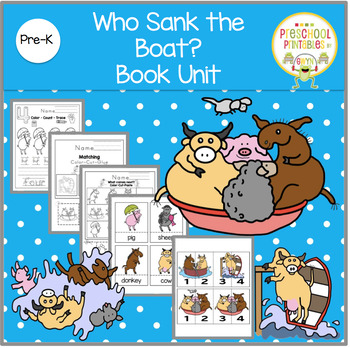 Who Sank the Boat? Book Unit by Book Units by Lynn | TpT