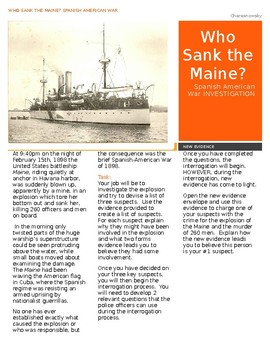 Who Sank the Maine?  Spanish American War