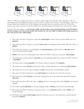 IB Diploma Programme Themed Puzzle to Solve
