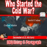 COLD WAR | DBQ Who Started the COLD WAR? | Print or Digital
