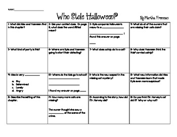 Who Stole Halloween? Chapter Chart