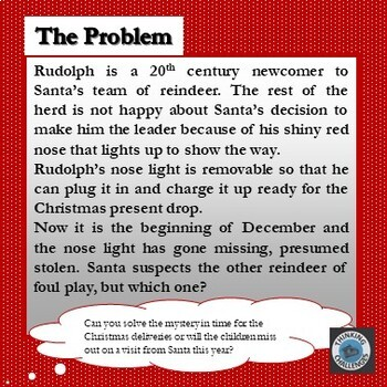 Who Stole Rudolph's Nose? : A Christmas Secret Code Mystery