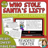 Who Stole Santa's List? Christmas Activities-  MYSTERY Readers Theater
