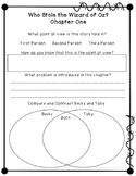Who Stole The Wizard of Oz? Novel Study Sheet FREEBIE