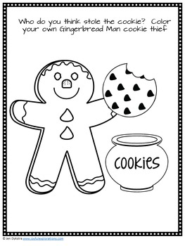 """Who Stole the Cookie?"" A Gingerbread Man Mystery"