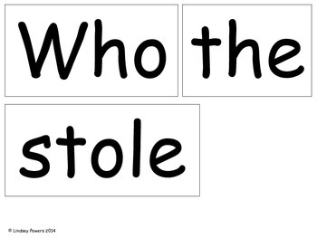Who Stole the Cookie? Letter/Sound Game