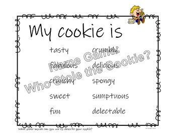Who Stole the Cookie Name Game